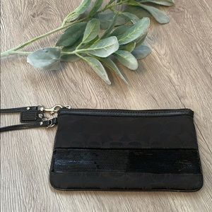 Coach Wristlet with Sequins